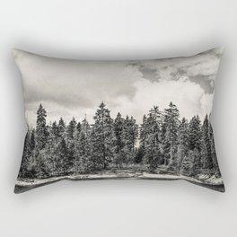 Far Away Clouds Passing By Rectangular Pillow