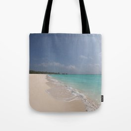 At the beach, watching the waves and clouds go by Tote Bag