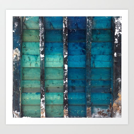 cold wooden palette Art Print