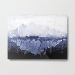 Paint 5 abstract water ocean arctic iceberg nature ocean sea abstract art drip waterfall minimal  Metal Print