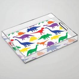 Dinosaurs - White Acrylic Tray