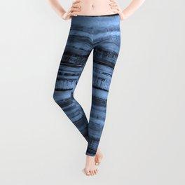 Expressive Inverted Watercolor Stripe Leggings