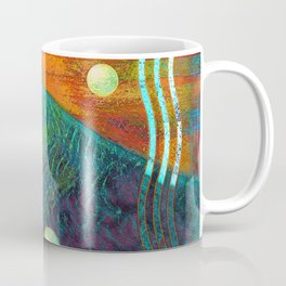 Colorful Mermaid Tail Horizontal Coffee Mug