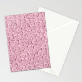 Soft Pink Knit Textured Pattern Stationery Cards