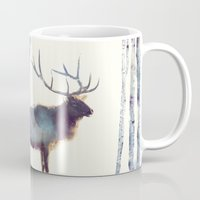elk Mugs featuring Elk // Follow by Amy Hamilton