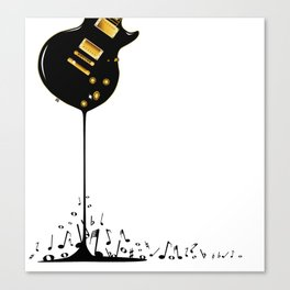 Flowing Music Canvas Print