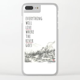 River of Living Water Clear iPhone Case