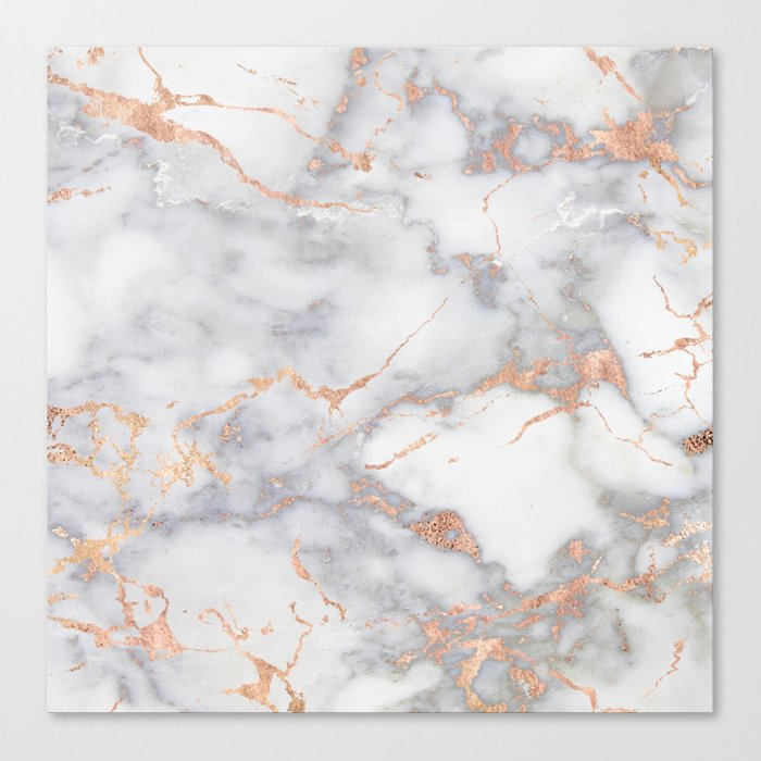 Gray Marble Rosegold Glitter Pink Metallic Foil Style