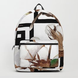 Cotton Flower Pattern 05 Backpack