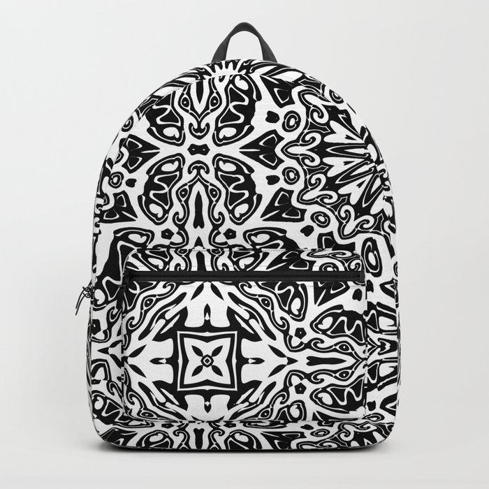 Oriental Pattern black and white Backpack