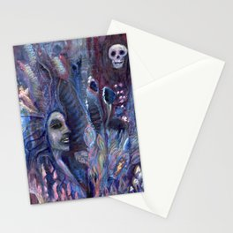 queen of poppies Stationery Cards