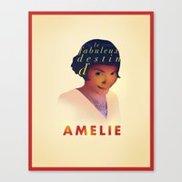 amelie Canvas Prints featuring Amelie by Mahdi Chowdhury