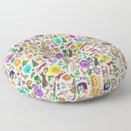 Folk Art #3 Floor Pillow