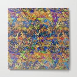 Grunge ethnic pattern.2 Metal Print