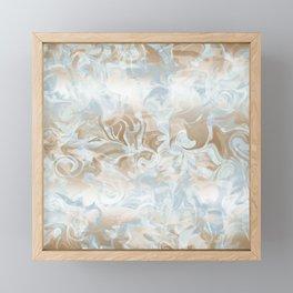 Watercolour Blue Gray Framed Mini Art Print