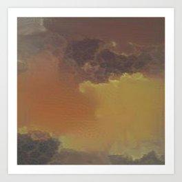 Brownish Cloud Pattern Art Print