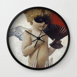Franz Von Stuck - Cupid At The Masked Ball Wall Clock