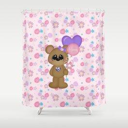 Mommy Bear Loves his Mommy Shower Curtain