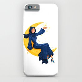 Lady on the Moon iPhone Case