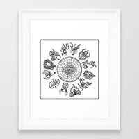 zodiac Framed Art Prints featuring zodiac  by My dominance