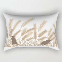 Mice In The Grain No. 4 Rectangular Pillow