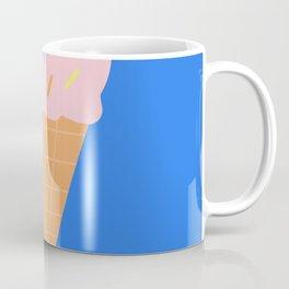 Sweet Ice cream cone with blue background Coffee Mug