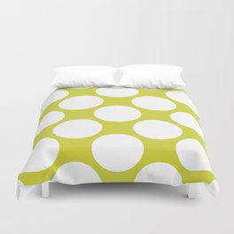 Polka Dots Green Duvet Cover