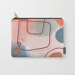Abstract Shapes and Colours - Pinks and Blues  Carry-All Pouch