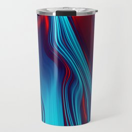 Teal With Red, Streaming Travel Mug