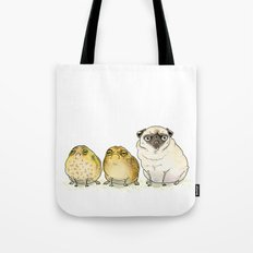 Glum Chums - Pug and Toad are Friends Tote Bag