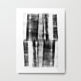 "Monochrome Geometric Abstract ""Up Down"" Metal Print"