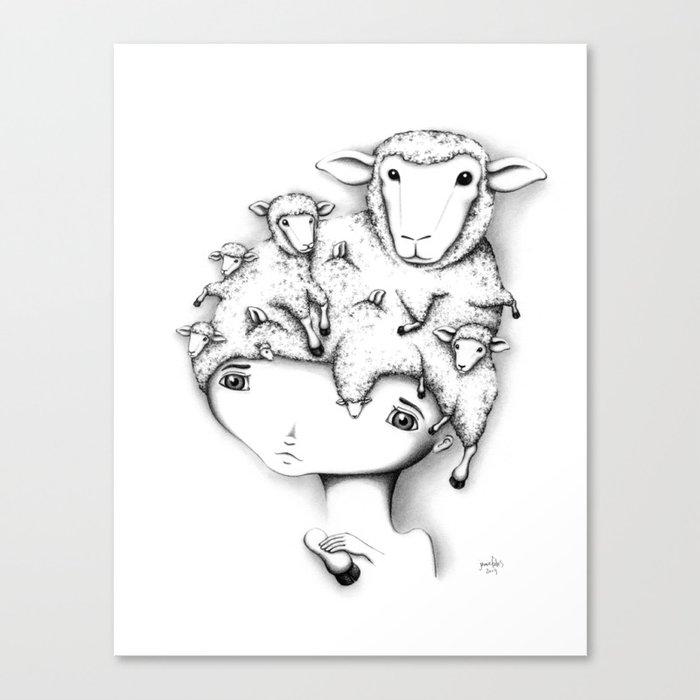 Merino Mutation Canvas Print