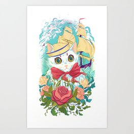 Sailor Kitty Art Print