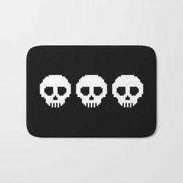 Pixel Skulls - Black Bath Mat