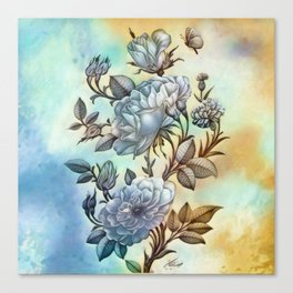 The Vintage Rose Canvas Print