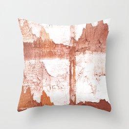 Sienna nebulous wash drawing Throw Pillow