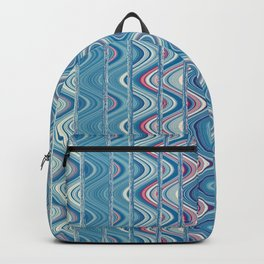 Indian pattern in blue Backpack