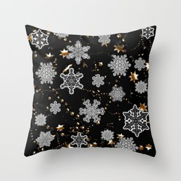 Snowflakes 3 Throw Pillow