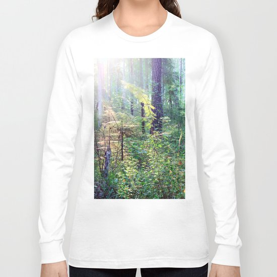 Sunny morning in the forest Long Sleeve T-shirt
