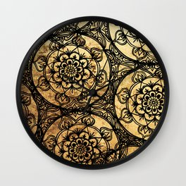 Golden Lace Wall Clock
