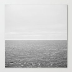Long white sea Canvas Print
