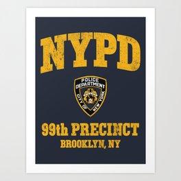99th Precinct - Brooklyn NY Art Print