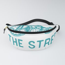 I Was Raised On The Streets Tricycle Lightning Bolt Graphic Fanny Pack