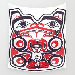 Bear and Man Wall Tapestry