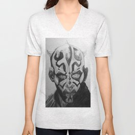 Darth Maul Portrait Pencil Unisex V-Neck