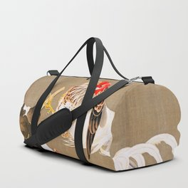 Ito Jakuchu - Hen and Rooster with Grapevine Duffle Bag