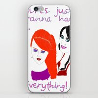 gilmore girls iPhone & iPod Skins featuring Girls by jt7art&design