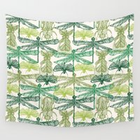 insects Wall Tapestries featuring Insects by nkpappas