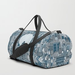 space city mono blue Duffle Bag