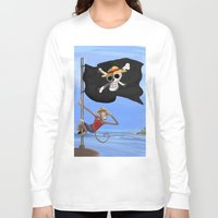 luffy Long Sleeve T-shirts featuring Monkey D Luffy by Laércio Messias